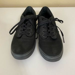 Vans Sneakers All Black Lace Up Shoes
